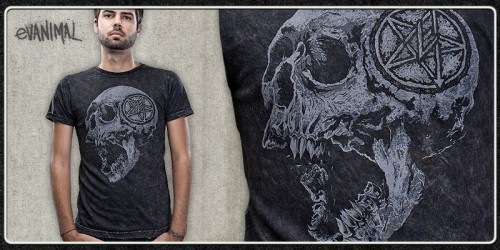 emptees EZ skull1 500x250 45 Amazingly Creative T Shirt Designs