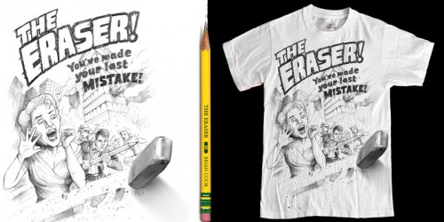 eraser emptees1 500x250 45 Amazingly Creative T Shirt Designs