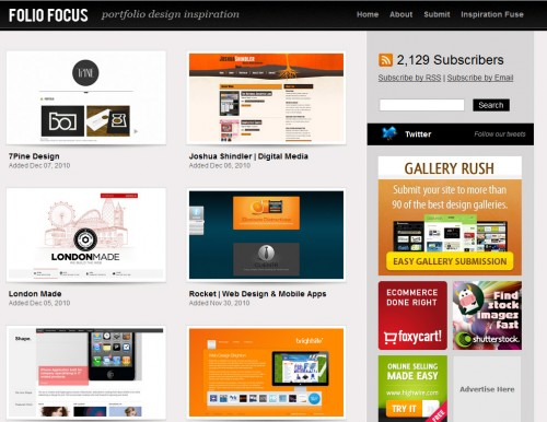 foliofocus 500x386 Top 35 CSS Galleries For Web Design Inspiration