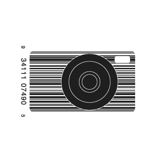 full camera1 e1293733175349 30 Simple Yet Creative Bar Code Designs