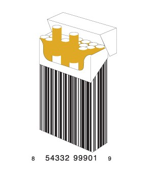 full cigarettes1 e1293732849232 30 Simple Yet Creative Bar Code Designs