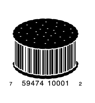 full cookie1 e1293733688479 30 Simple Yet Creative Bar Code Designs