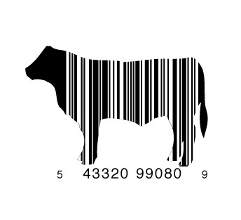 full cow1 e1293733607377 30 Simple Yet Creative Bar Code Designs