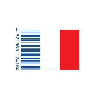 full franceflag1 e1293733232614 30 Simple Yet Creative Bar Code Designs