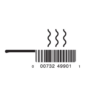 full fryingpan1 e1293733288668 30 Simple Yet Creative Bar Code Designs