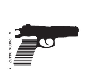 full gun1 e1293733078820 30 Simple Yet Creative Bar Code Designs