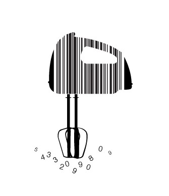 full handmixer1 e1293733502561 30 Simple Yet Creative Bar Code Designs