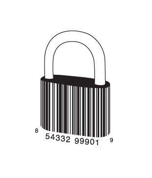 full lock1 e1293733120594 30 Simple Yet Creative Bar Code Designs