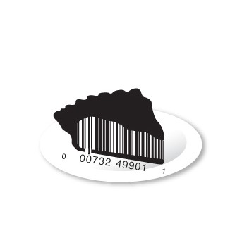 full pie1 e1293733855100 30 Simple Yet Creative Bar Code Designs