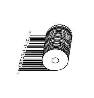 full roll1 e1293734085996 30 Simple Yet Creative Bar Code Designs
