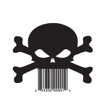 full skull1 e1293733040667 30 Simple Yet Creative Bar Code Designs