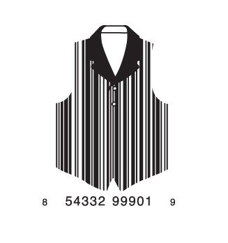 full vest1 e1293732688626 30 Simple Yet Creative Bar Code Designs