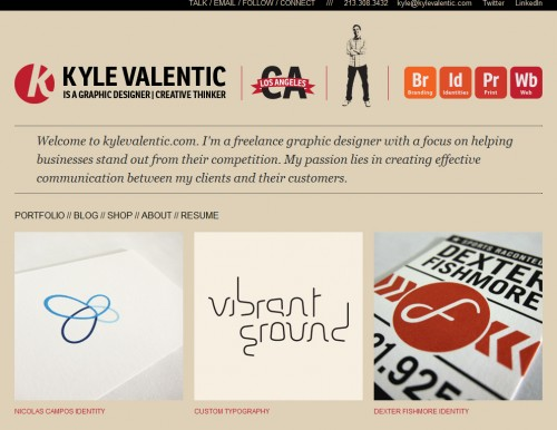 kylevalentic 500x386 40 Quality Websites with Circular Logos