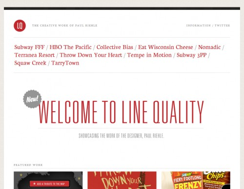 linequality 500x386 40 Quality Websites with Circular Logos