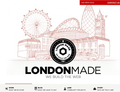 londonmade 500x386 40 Quality Websites with Circular Logos