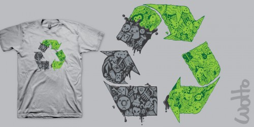 recycle1 500x250 45 Amazingly Creative T Shirt Designs