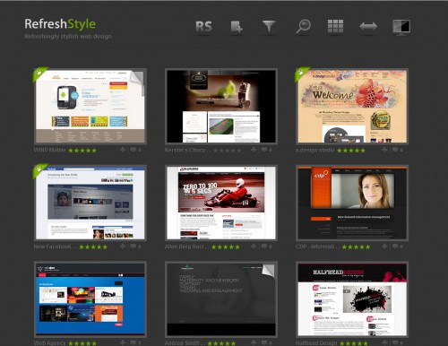refreshstyle1 500x386 Top 35 CSS Galleries For Web Design Inspiration