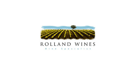 rolland wines l1 40 Amazing Wine Based Logo Designs