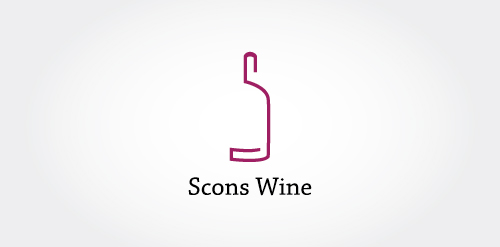 scons wine1 40 Amazing Wine Based Logo Designs