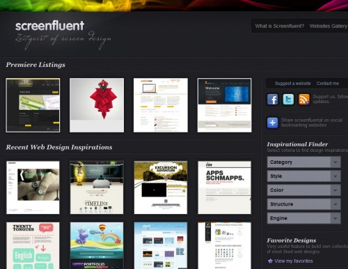 screenfluent 500x386 Top 35 CSS Galleries For Web Design Inspiration