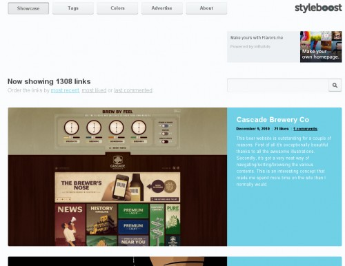 styleboost 500x386 Top 35 CSS Galleries For Web Design Inspiration
