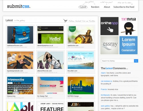 submitcss 500x386 Top 35 CSS Galleries For Web Design Inspiration