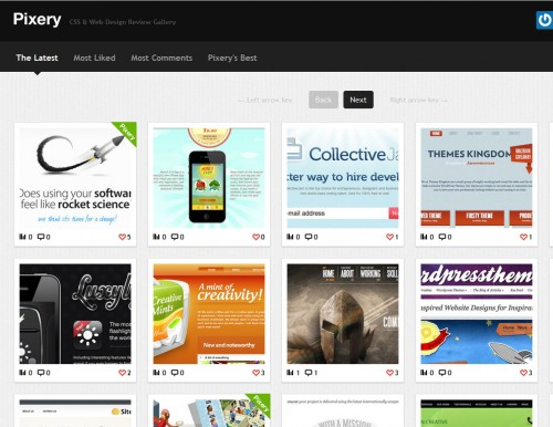thepixery 500x386 Top 35 CSS Galleries For Web Design Inspiration
