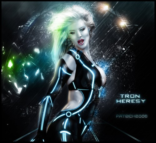 tron heresy by patrick2006 d32r6sk1 500x457 20 Outstanding Tron Legacy Fan Artworks