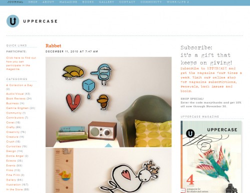 uppercasegallery 500x386 40 Quality Websites with Circular Logos