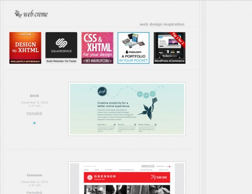 webcreme 500x386 Top 35 CSS Galleries For Web Design Inspiration