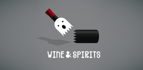 wine and spirits1 40 Amazing Wine Based Logo Designs