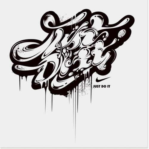71 nike041 500x500 50 Remarkable Examples Of Typography Design #4