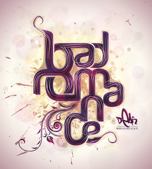 Bad Romance l1 500x555 50 Remarkable Examples Of Typography Design #4