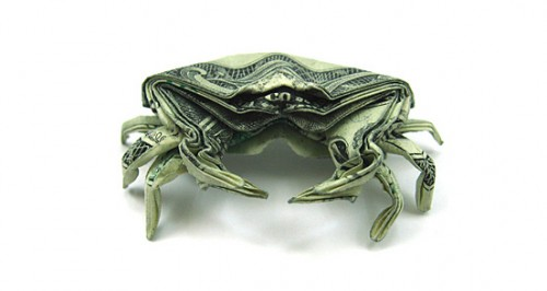 Crab s1 500x266 20 Examples of Origami Paper Folding by Won Park