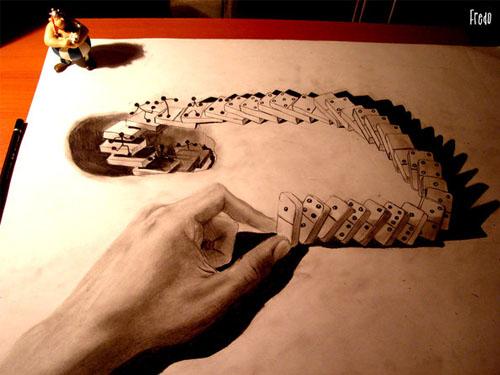 """إبدآع""""رسومآت مجسمة"""".. Domino.jpg"""