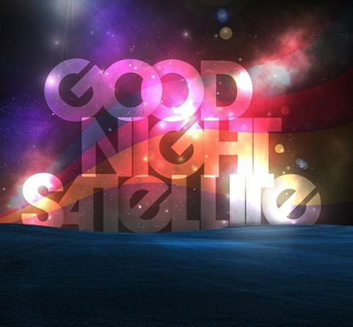 Good Night Satellite l1 500x462 50 Remarkable Examples Of Typography Design #4