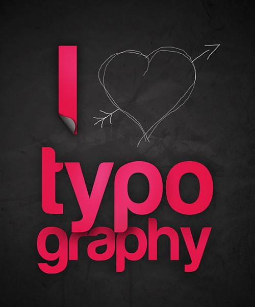 I love typography l1 500x600 50 Remarkable Examples Of Typography Design #4