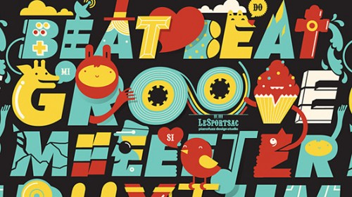 LeSportsac Beat Beat l1 500x280 50 Remarkable Examples Of Typography Design #4