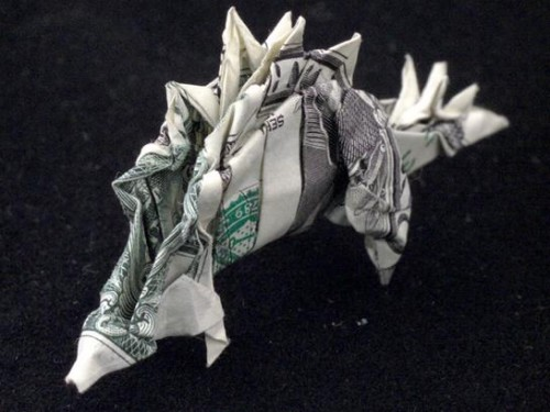 One Dollar Stegasaurus by orudorumagi111 500x375 20 Examples of Origami Paper Folding by Won Park