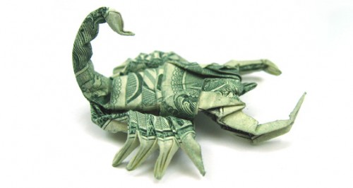 Scorpion s1 500x266 20 Examples of Origami Paper Folding by Won Park