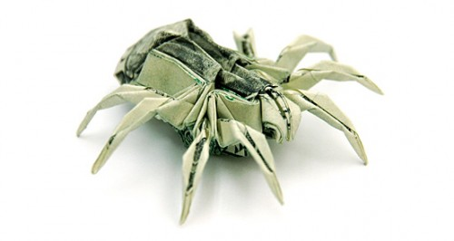 Spider s1 500x266 20 Examples of Origami Paper Folding by Won Park