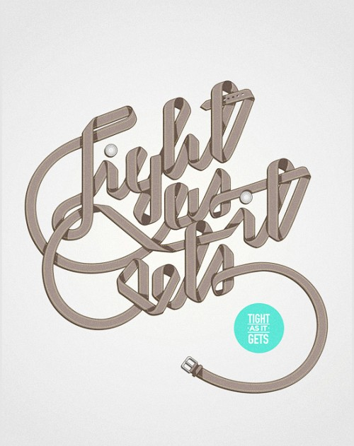 Tight as it gets l1 500x631 50 Remarkable Examples Of Typography Design #4