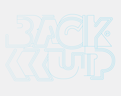 back up B2 950x7601 500x400 50 Remarkable Examples Of Typography Design #4
