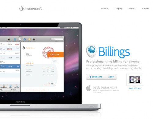 billings 500x387 35 Beautiful Mac App Web Designs