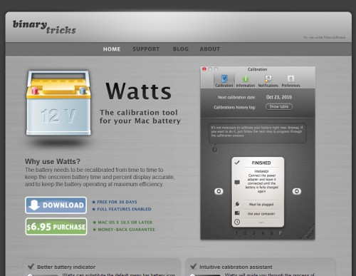binarytricks 500x387 35 Beautiful Mac App Web Designs