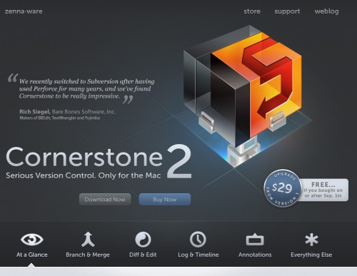 cornerstone 500x387 35 Beautiful Mac App Web Designs