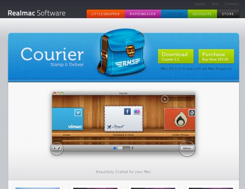 courier 500x387 35 Beautiful Mac App Web Designs