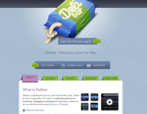 delibarapp 500x387 35 Beautiful Mac App Web Designs