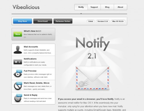 notify 500x387 35 Beautiful Mac App Web Designs