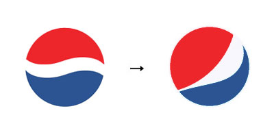 pepsi1 60 Recently Redesigned Corporate Identities